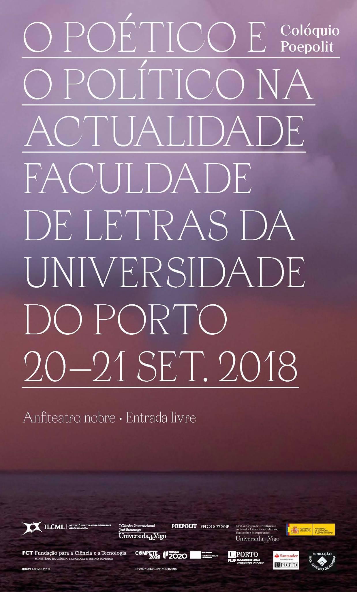 """O arquivo do I Colóquio Internacional """"O Poético e o Político na Actualidade"""" (2018)"""